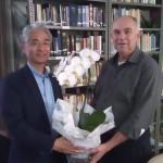 Diretor  Munehiro Niwano  e Cônego José Bizon
