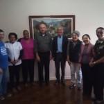 Diretor  Munehiro Niwano, Cônego José Bizon, Maria Hiromi Sassaki e Equipe da Casa da Reconciliação